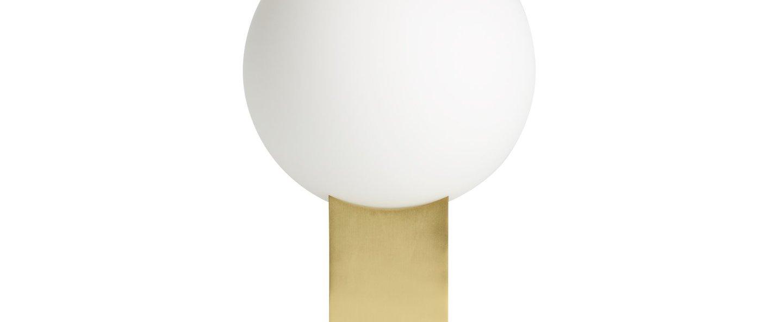 Lampe a poser hoop verre opalin laiton l20cm h34cm norr11 normal