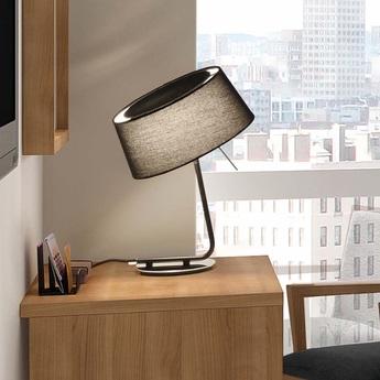 Lampe a poser hotel noir h37cm faro normal