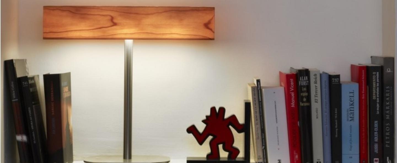 Lampe a poser i club bois naturel de cerisier h36 5cm lzf normal
