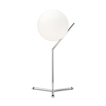 Lampe a poser ic lights table 1 high opalin et chrome o32 1cm h53cm flos normal
