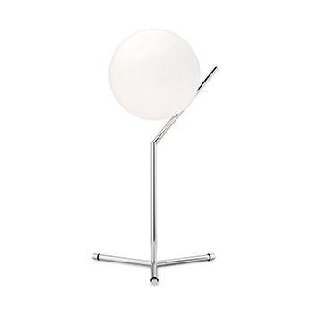 Lampe a poser ic lights table 1 high opalin et chrome o32 1cm h53cm flos normal