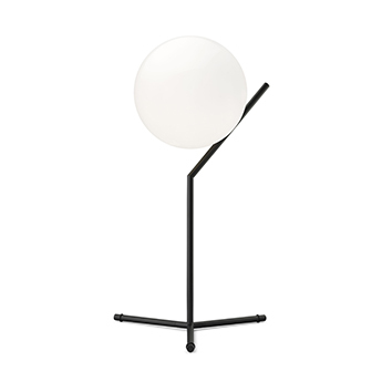 Lampe a poser ic lights table 1 high opalin et noir o32 1cm h53cm flos normal