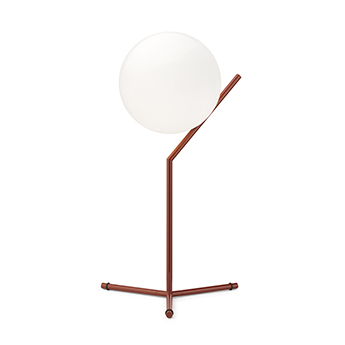 Lampe a poser ic lights table 1 high opalin et rouge burgundy o32 1cm h53cm flos normal