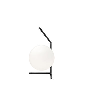 Lampe a poser ic lights table 1 low opalin et noir o20cm h38 1cm flos normal