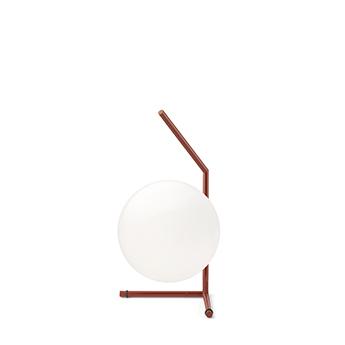 Lampe a poser ic lights table 1 low opalin et rouge burgundy o20cm h38 1cm flos normal