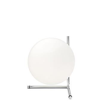 Lampe a poser ic lights table 2 opalin et chrome o30cm h35cm flos normal