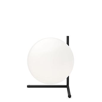 Lampe a poser ic lights table 2 opalin et noir o30cm h35cm flos normal
