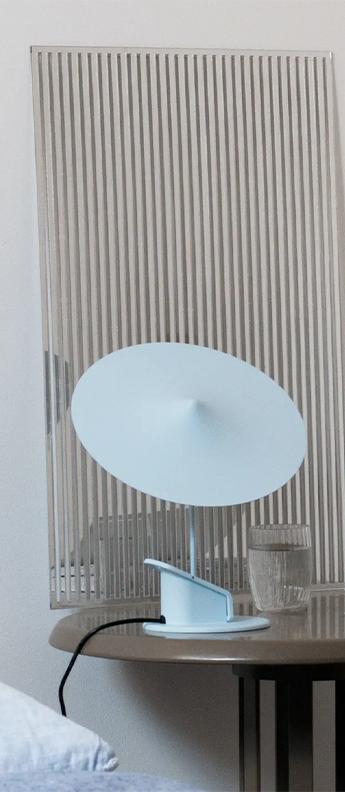 Lampe a poser ile bleu ciel led 2700k 690lm o20cm h19cm wastberg normal
