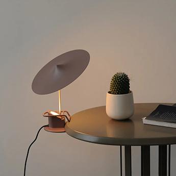 Lampe a poser ile marron gris led 2700k 690lm o20cm h19cm wastberg normal