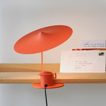 Lampe a poser ile rouge coquelicot led 2700k 690lm o20cm h19cm wastberg normal
