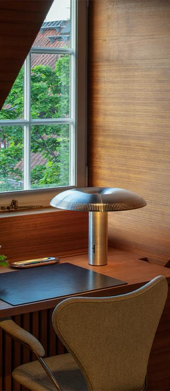 Lampe a poser illumina aluminium led 2700k 776lm o40 3cm h30 5cm wastberg normal