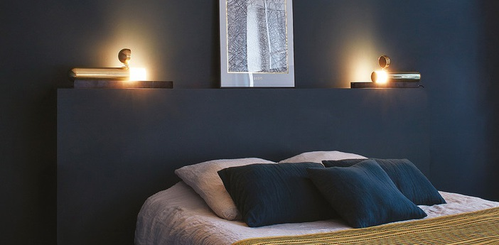 Lampe a poser isp table noir et or led l55 5cm h12cm dcw editions normal