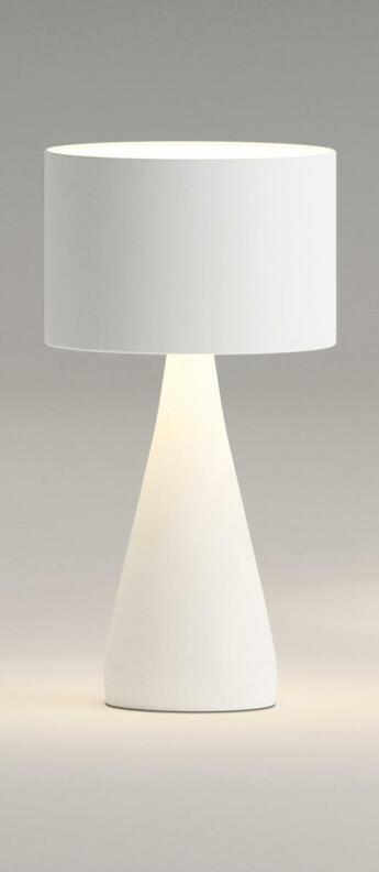 Lampe a poser jazz 1332 blanc o21cm h40cm vibia normal