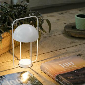 Lampe a poser jellyfish blanc led 2700k 220lm o17cm h31cm faro normal