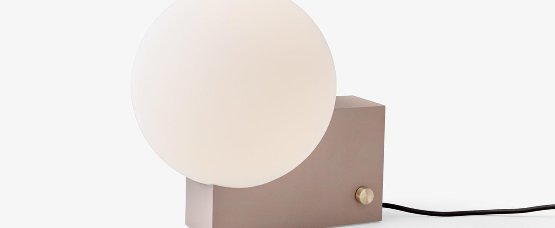 Lampe a poser journey marron led l26cm h24cm andtradition normal