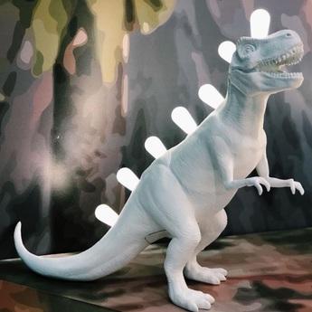 Lampe a poser jurassic lamp rex blanc l39cm h33 5cm seletti normal