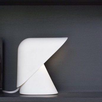 Lampe a poser k lamp blanc led l18 5cm h24cm vitamin normal