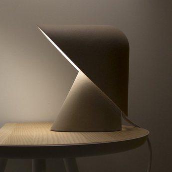 Lampe a poser k lamp gris led l18 5cm h24cm vitamin normal