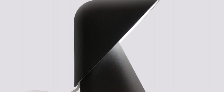 Lampe a poser k lamp noir led l18 5cm h24cm vitamin normal