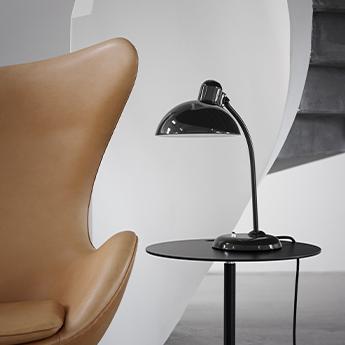 Lampe a poser kaiser idell 6556 t noir brillant l21 5cm h47cm lightyears normal