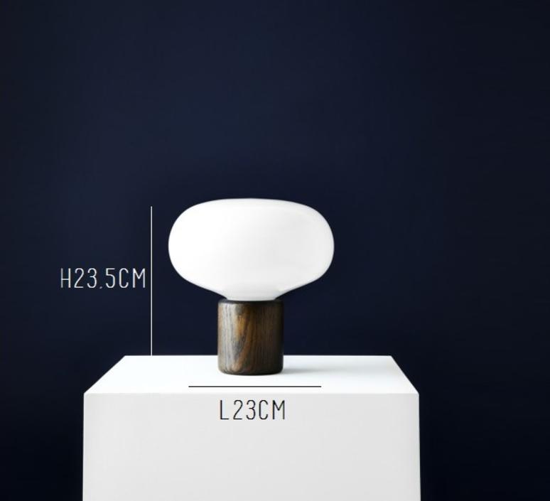 Karl johan chene verre opale signe hytte lampe a poser table lamp  newworks 20310  design signed 30621 product