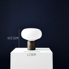 Karl johan chene verre opale signe hytte lampe a poser table lamp  newworks 20310  design signed 30621 thumb