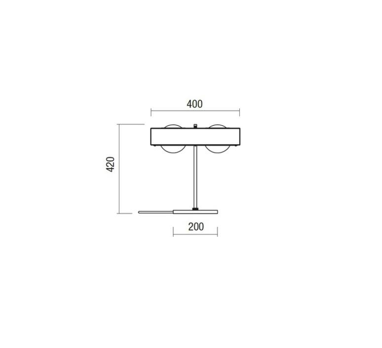 Kernel  lampe a poser table lamp  bert frank kernel table lamp white  design signed 35984 product