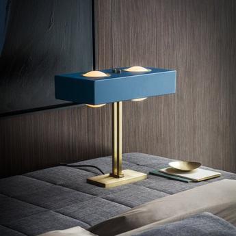 Lampe a poser kernel bleu led l40cm h20cm bert frank normal
