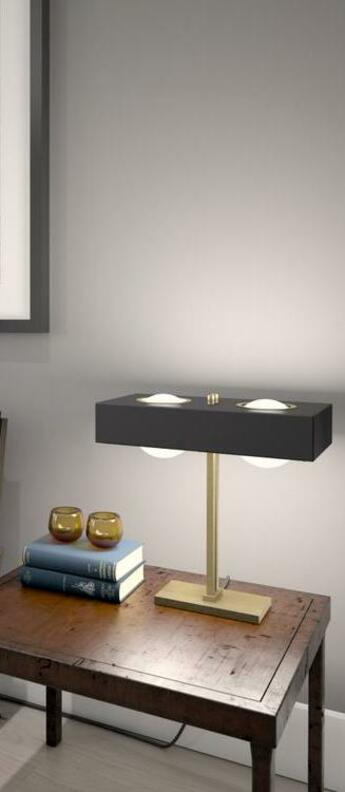 Lampe a poser kernel noir led l40cm h20cm bert frank normal