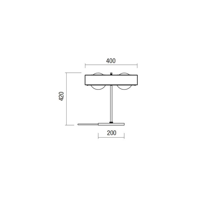 Kernel  lampe a poser table lamp  bert frank kernel table lamp black  design signed 35987 product