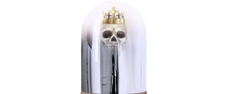 Lampe a poser king arthur chrome led o30cm h42cm mineheart normal