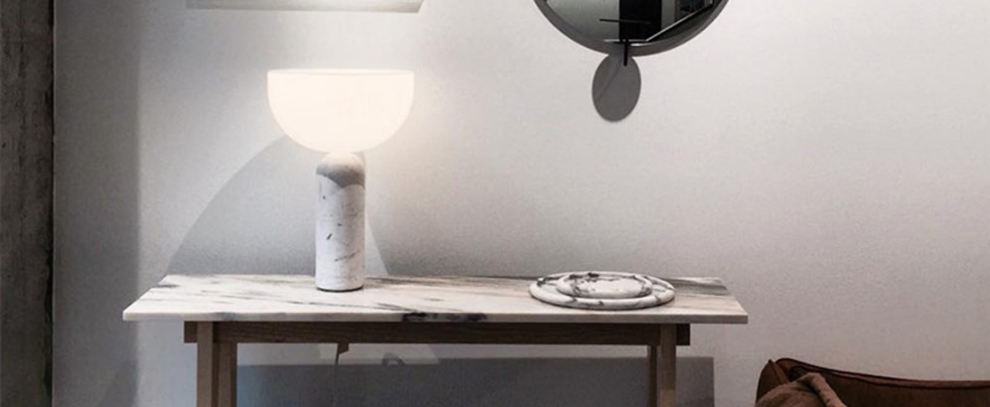 Lampe a poser kizu blanc h45cm o 30 cm new works normal