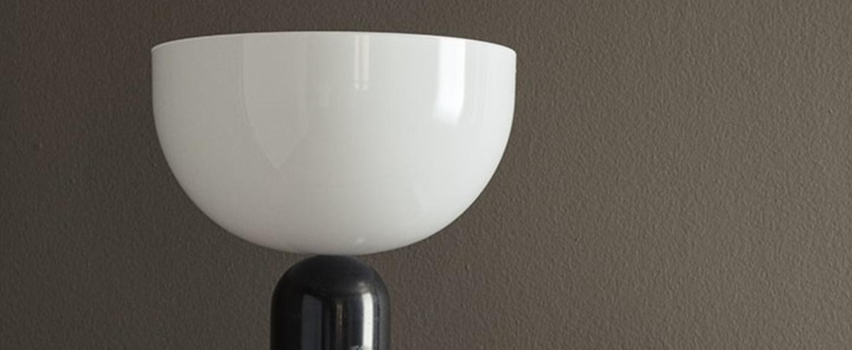 Lampe a poser kizu large marbre noir blanc o30cm h45cm new works normal