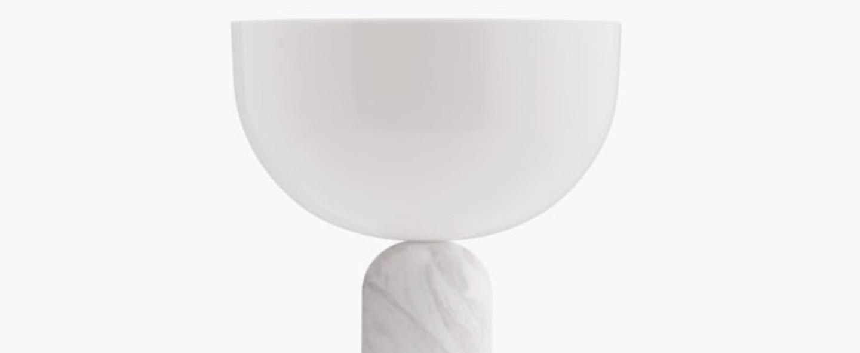 Lampe a poser kizu small marbre blanc o25cm h35cm new works normal