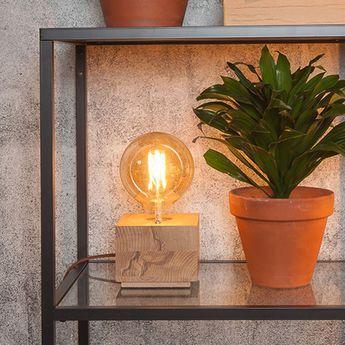 Lampe a poser kobe bois naturel l13cm h10cm it s about romi normal