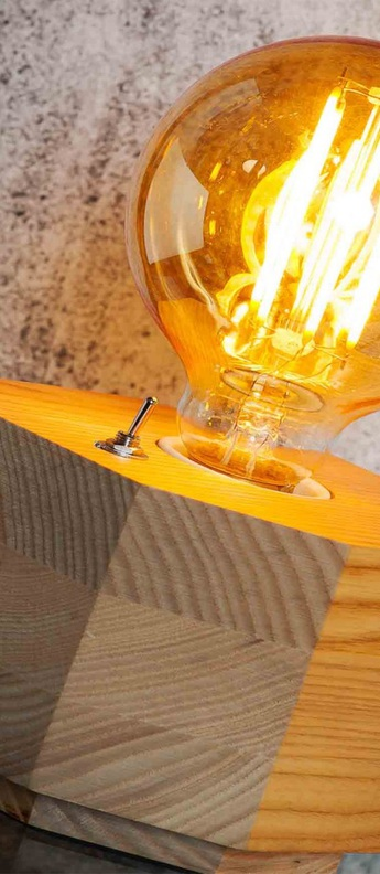 Lampe a poser kobe bois naturel l13cm h9cm it s about romi normal
