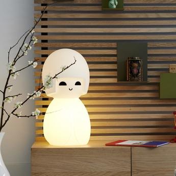 Lampe a poser kokeshi blanc h63cm mr maria normal