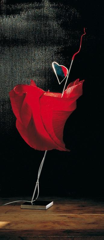 Lampe a poser kokoro rouge o15cm h80cm ingo maurer normal