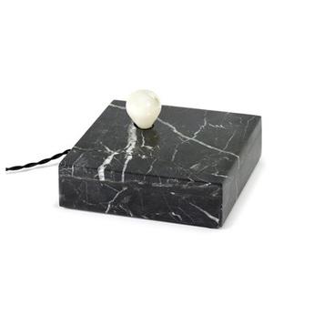 Lampe a poser kvg 02 01 marbre noir o20cm p6cm serax normal
