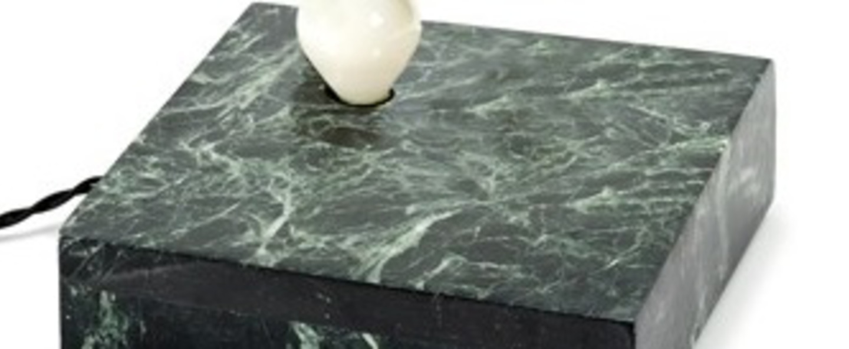 Lampe a poser kvg 02 01 marbre vert o20cm p6cm serax normal