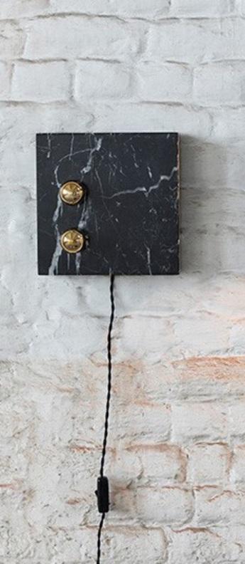 Lampe a poser kvg 02 03 marbre noir o25cm p6cm serax normal