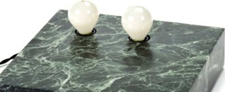 Lampe a poser kvg 03 02 marbre vert o25cm p6cm serax normal