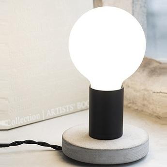 Lampe a poser kvg 19 01 noir et blanc o11cm h8cm serax normal