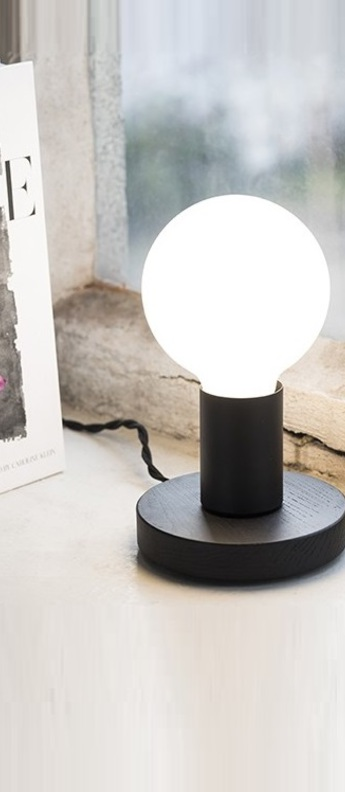Lampe a poser kvg 19 02 noir o11cm h8cm serax normal