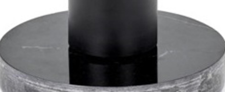 Lampe a poser kvg 19 04 marbre noir o11cm h8cm serax normal