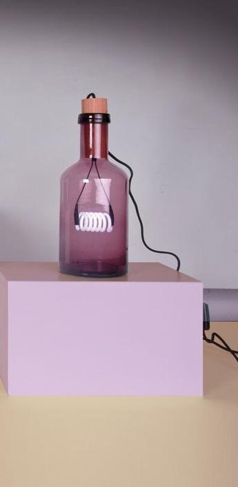 Lampe a poser la bouche violet h39cm seletti normal