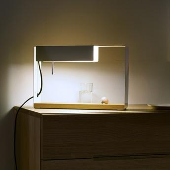Lampe a poser la discrete blanc h26 2cm marset normal