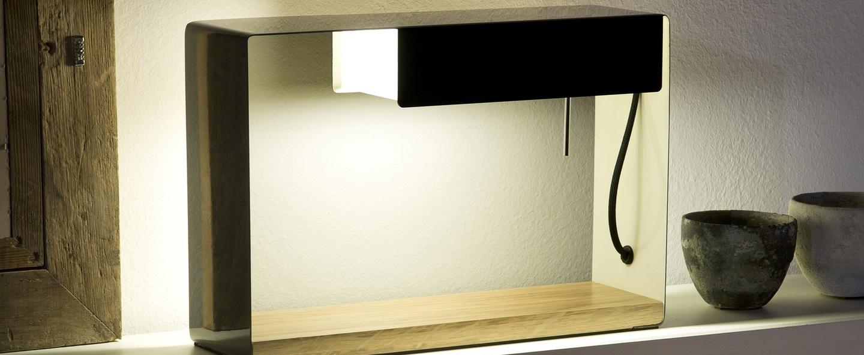 Lampe a poser la discrete gris brun h26 2cm marset normal