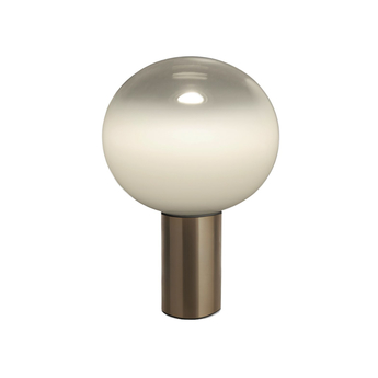 Lampe a poser laguna tavolo transparent fume bronze satine dimmable o26cm h38 3cm artemide normal