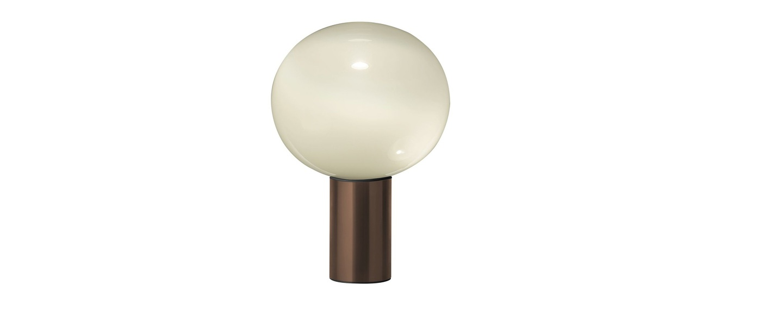 Lampe a poser laguna tavolo transparent fume bronze satine dimmable o37cm h54 1cm artemide normal